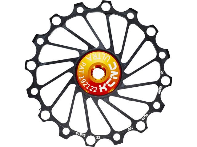 KCNC Jockey Wheel SS Bearing Narrow Wide 16 Zähne black